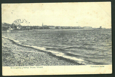 Postcard  - Broughty Ferry from West, Dundee - 1903