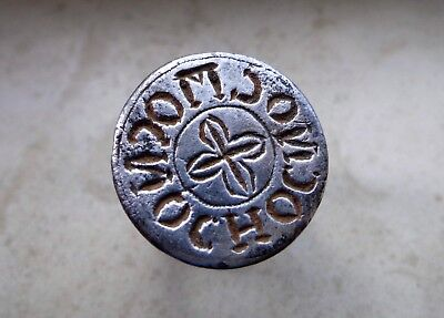 Byzantine Silver Ring with Inscription and Cross on the Oval Bezel.1st-2nd C.AD