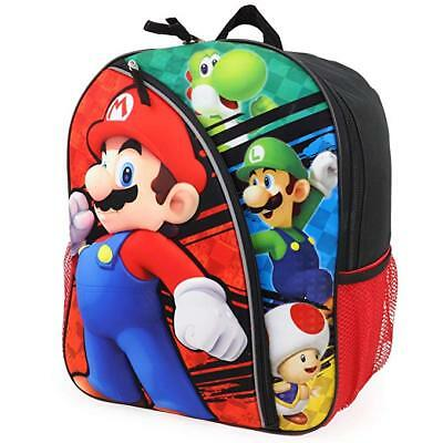 """Nintendo Super Mario 3D 16"""" Molded Front Large Backpack Free Shipping"""