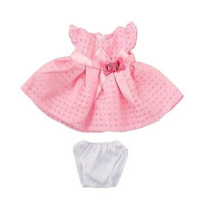 Pink Skirt Dress with Rose Flower Bowknot Outfit for 18 inch American Girl Z9L9