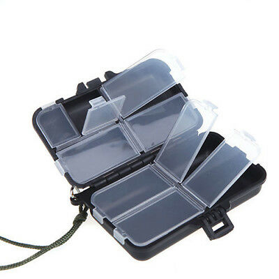 Portable 9 Compartments Fishing Lures Box Spoon Hooks Baits Tackle Hook Cas E6F6