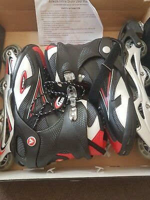 Airwalk Black/Red Pro Inline Skates  SN 74 Size 12(  Been Used Once) RRP £99