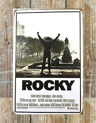 US SELLER-Rocky - designer interior Movie Score Arms Up wall decor metal sign