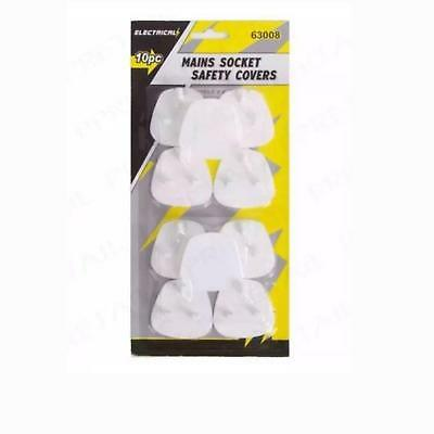 New 10Pc Electrical Mains Socket Safety Covers For Child/baby Safety