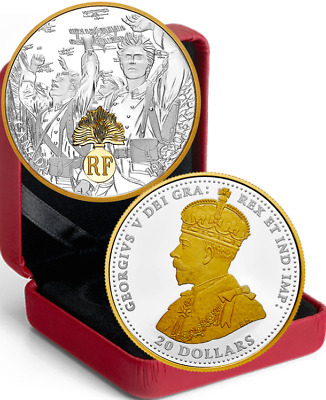 2018 France First World War Allies $20 1OZ Pure Silver Proof Coin Canada