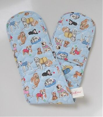Cath Kidston Double Oven Gloves ~ 'Dogs' Design ~ Brand New With Tags