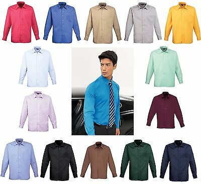Mens Long Sleeve Formal Shirt Business Work Smart Formal Casual Shirt Lot PR200