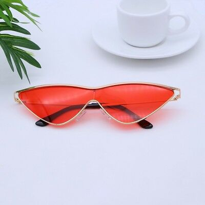 Women's Cat Eye Sunglasses Metal Frame with Colored Mirror
