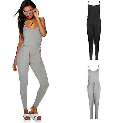 New Ex Boohoo Women Ladies Clubwear Playsuit Party Jumpsuit Trousers RRP £12