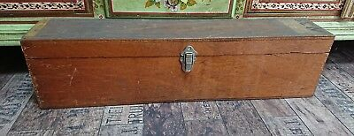 VINTAGE antique tool industrial trunk Case wooden old decor storage chest box