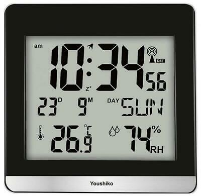 Large Jumbo LCD Radio Controlled Silent Wall Clock ( UK & Ireland Version ) with