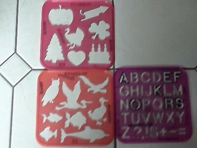 3 Tupperware Stencils  Art Drawing Template   As Pictured lot #3