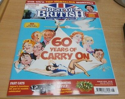 Best of British magazine AUG 2018 60 Years of Carry On films + Peggy Mount &more