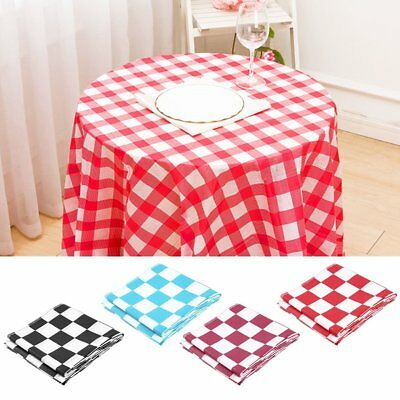 Disposable Plaid Tablecloth Rectangular Table Cover for Home Parties Picnics GD