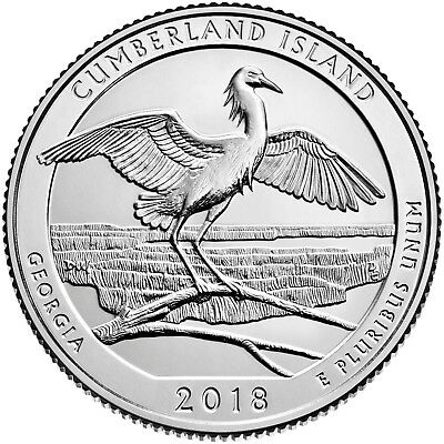 2018 Cumberland Island National Seashore  GA ATB P&D mint Quarter Set AVAILABLE