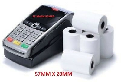 QUALITY THERMAL CHIP & PIN TILL ROLL PAPER SIZE 57mm x 28mm