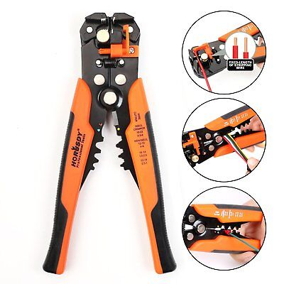 """HORUSDY Wire Stripping Tool, Self-adjusting 8"""" Automatic Wire Strippers/Cutting"""