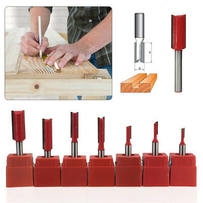 """1/4"""" inch Shank Straight Metric,Imperial Router Cutter Bit Woodwork TCT Kitchen"""