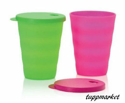 Tupperware 2 x 330ml Impressions Straw Tumblers Special Offer