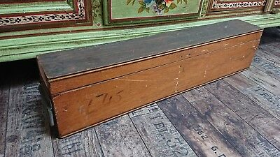 VINTAGE antique tool industrial trunk Case wooden old decor storage chest box!