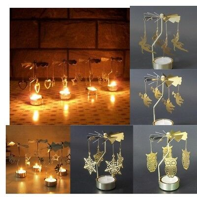 Blesiya Xmas Gift Swivel Tealight Candle Holder Mood Light Candlestick Decor