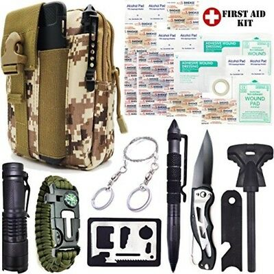 US Military Grade Emergency Survival Kit Food Med Small Gear Escape First Aid