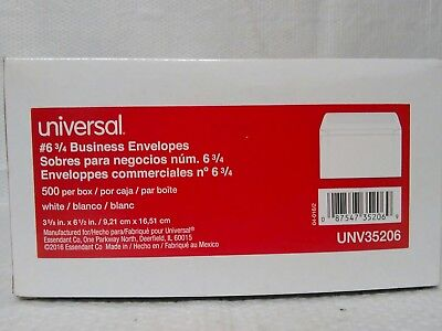 "Universal Unv35206 White # 6 3/4 Business Envelopes 3 5/8"" X 6 1/2"" Box Of 500"