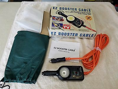 New EZ BOOSTER CABLE BC-9530 Charge Battery From Cigarette Lighter Each Car 12Ft