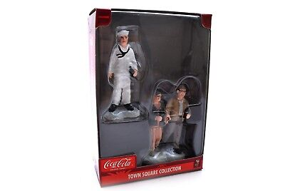 Coca-Cola Town Square Collection figurines Sailor & Couple Holding Hands