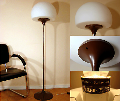 TEMDE Lampe Tulip Stehlampe, Mushroom Floor Lamp SPACE AGE Swiss 1960s