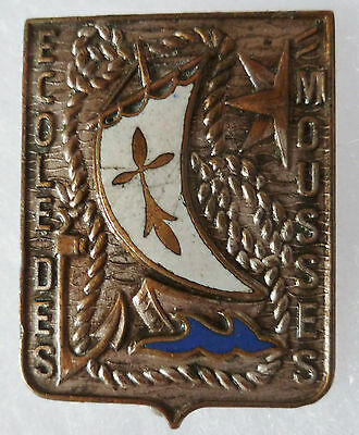 Insigne Marine Nationale ECOLE DES MOUSSES BRETAGNE 1945/1960 ORIGINAL COURTOIS