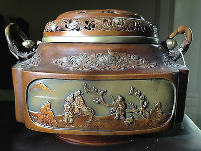 ORIGINAL  Antique Rare Chinese Bronze urn Ming Dynasty Xuande 15th century