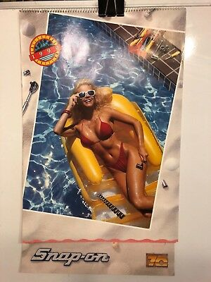1990 Snap-On Tool Pin-Up Calendar, Kenosha, Mi, Complete, Very Good Con