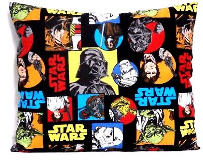 Star Wars Toddler Pillow on Black blocks 100%Cotton SW11-2 New Handmade