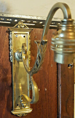 Antique Edwardian Brass Wall light with contemporary Shade