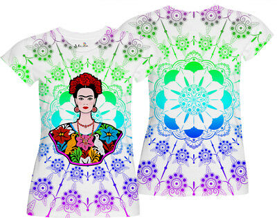Frida Birds / Missy All Over Front & Back Print Women  T-Shirt Or Tank Top