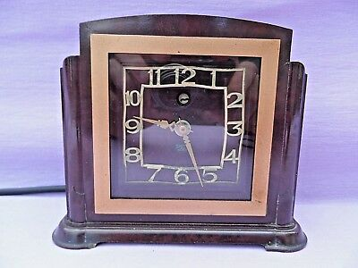 Vintage Smiths Art Deco Style Bakelite Electric Mantle Clock Lovely Condition