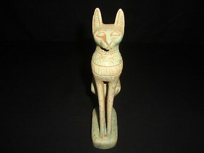 RARE ANTIQUE ANCIENT EGYPTIAN Statue of Cat Goddess Bast Bastet 2800-2750 BC