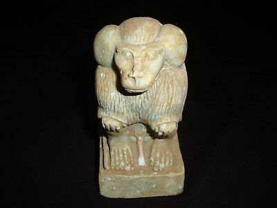 Rare Antique Ancient Egyptian Statue sacred Baboon 1925-1870 BC