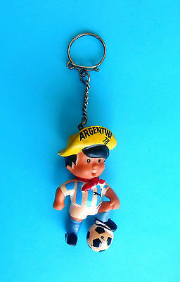 FIFA FOOTBALL WORLD CUP ARGENTINA '78. old large gum keychain MASCOT GAUCHITO