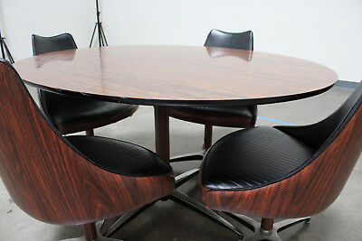 Mid Century Modern Dining Table Set 60s70s Virtue Brothers of California Vintage