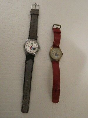 Lorus Goofy Backwards Watch And A Bradley Goofy Watch
