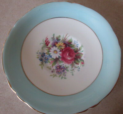 Vintage Paragon Blue White Saucer Only Hm The Queen Hm Queen Mary Bone China