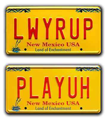Better Call Saul | Jimmy McGill | LWYRUP + PLAYUH | STAMPED Prop License Plates