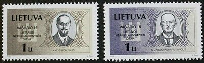 National day, Signatories to declaration of independence stamps, 2002, MNH