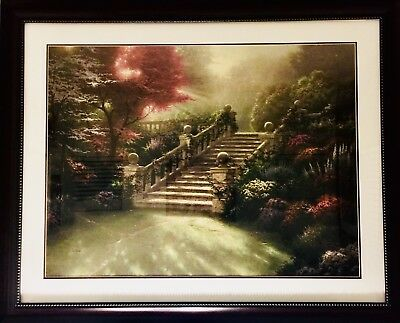 Thomas Kinkade Stairway To Paradise-Large Framed Lithograph LE Print 581/770 I/P