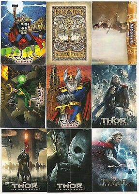 Thor: The Dark World Complete Set ( 100 Cards)  2013 Upper Deck