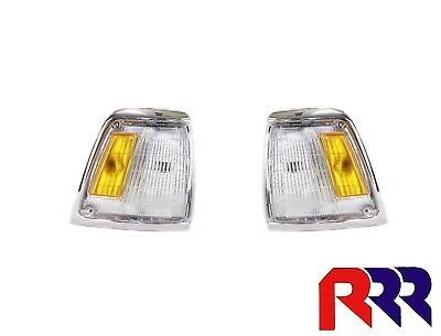 Toyota Hilux Rn85 2Wd 8/88-8/91 Corner Light Lamp Chrome Rim - Pair (Lh + Rh)