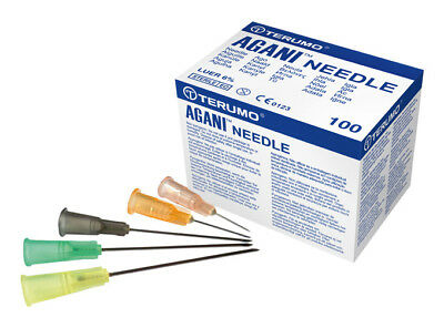 Terumo AGANI Hypodermic Injection Needles 20g - 27g Sealed & Sterile CHEAPEST UK