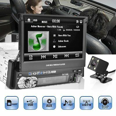 7 inch Car MP5 Player Bluetooth Touch Screen Stereo Radio + Map Card + Camera QC